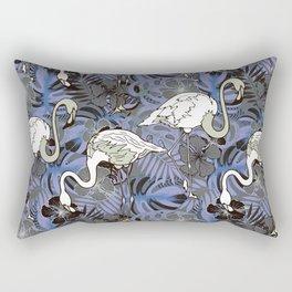 White flamingo. Rectangular Pillow