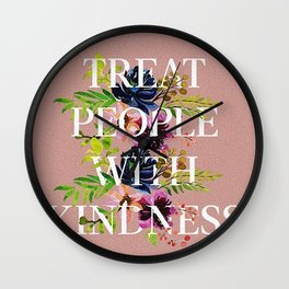 Treat People With Kindness graphic artwork / Harry Styles Wall Clock