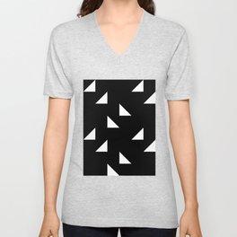 triangles in black Unisex V-Neck