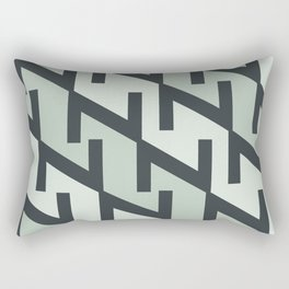 "Typographic Pattern ""Z"" Rectangular Pillow"
