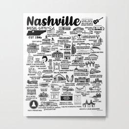 Nashville Tennessee Metal Print
