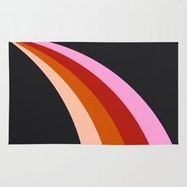 Retro Rainbow Stripes Rug