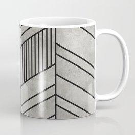 Concrete Chevron Pattern Coffee Mug