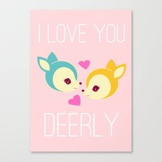 Deerly Canvas Print