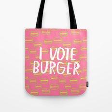 I Vote Burger Tote Bag