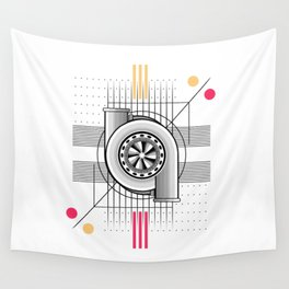 Turbo engine Wall Tapestry