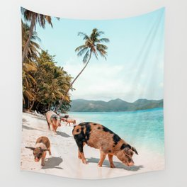Pig Beach 1 Wall Tapestry