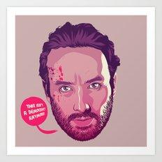 The Walking Dead - Rick Grimes Art Print