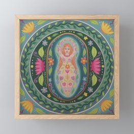 Spring Goddess Mandala Framed Mini Art Print