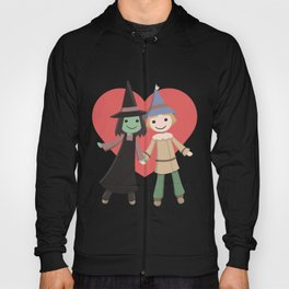 Cute witch and scarecrow Hoody