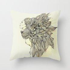 animalia lion Throw Pillow