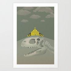 Rex, the King of Dinosaur Art Print