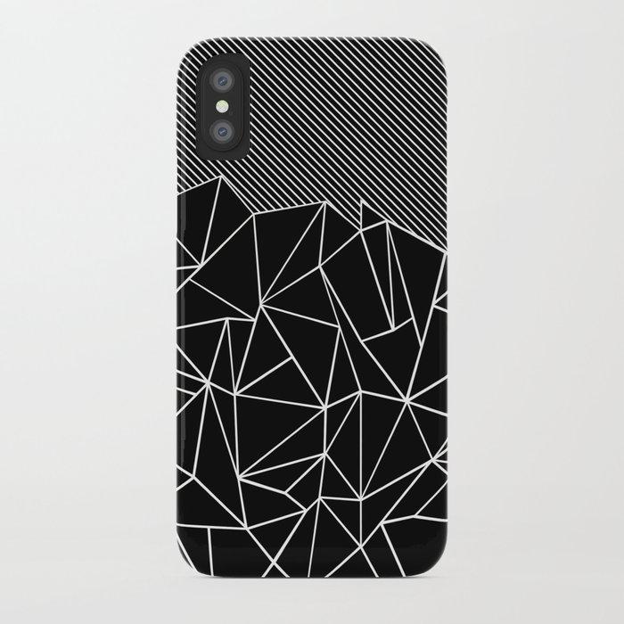 Ab Lines 45 Black iPhone Case