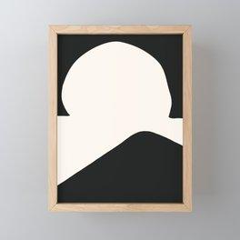 Hill In A Hole Framed Mini Art Print