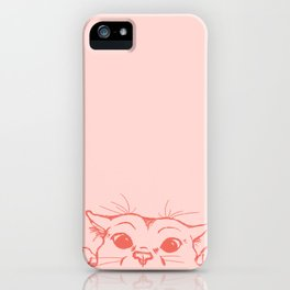 Coral Kitty iPhone Case