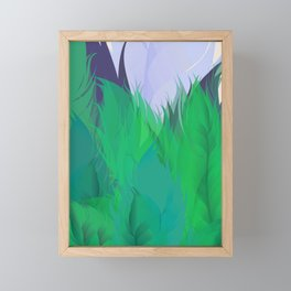 After The Rain Emerald Green Framed Mini Art Print