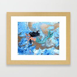 """Mermaid"" Framed Art Print"