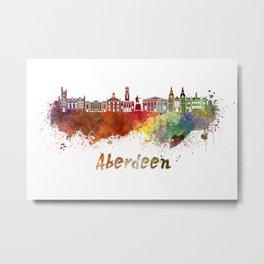 Aberdeen skyline in watercolor Metal Print
