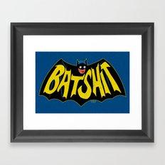 BATSHIT Framed Art Print