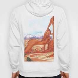 Arches National Park - Erotic Nature Couple Painting Hoody
