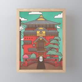 Kaonashi Framed Mini Art Print