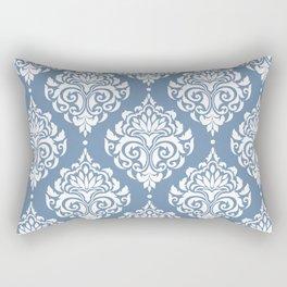 Sky Blue Damask Rectangular Pillow