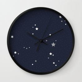Starry Night Sky Wall Clock
