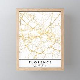 FLORENCE ITALY CITY STREET MAP ART Framed Mini Art Print