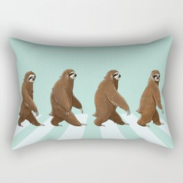 Sloth The Abbey Road in Green Rectangular Pillow