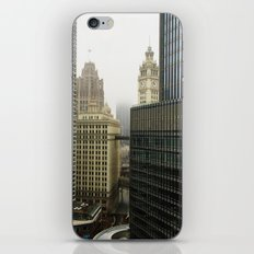 Chicago Buildings in Fog Color Photo iPhone & iPod Skin