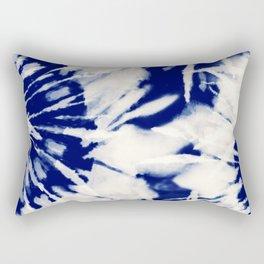 vivid blue tie dye Rectangular Pillow
