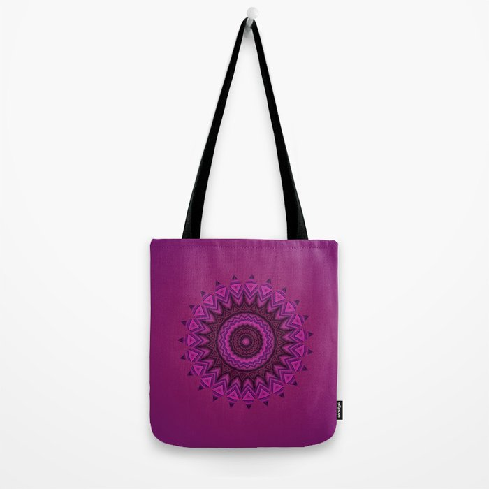 Deep purple mandala Tote Bag