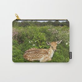 Fawn and Wildflowers Carry-All Pouch