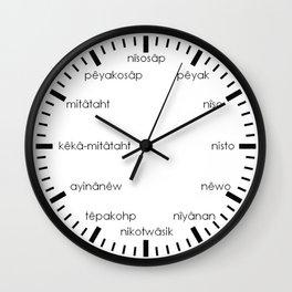 Black and White Pisimohkan Wall Clock