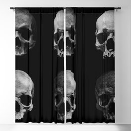 Skulls quartet BW Blackout Curtain