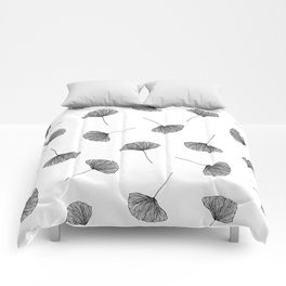 B&W Ginko Leaves Comforters