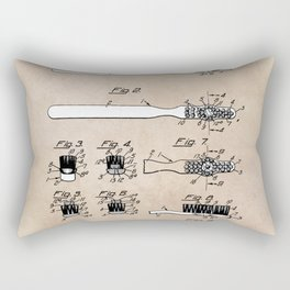 patent art Wolcott Toothbrush 1938 Rectangular Pillow