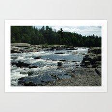 New Brunswick Rapids Art Print