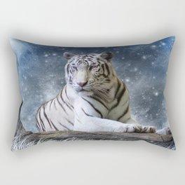 White Tiger Rectangular Pillow