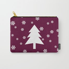 Snowy - wine - more colors Carry-All Pouch