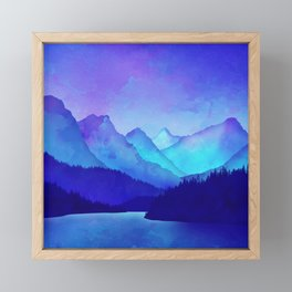 Cerulean Blue Mountains 1:1 Framed Mini Art Print