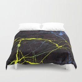 Beyond Gold and Blue Marble Duvet Cover
