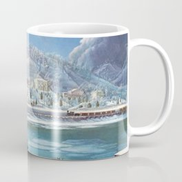 Mississippi River Paddlewheel Steamboat 'Forest Queen' in Winter by Martin Andreas Reisner Coffee Mug