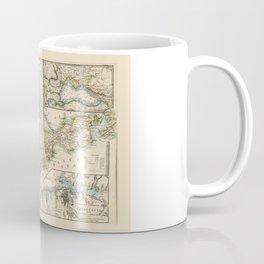 The Crimea (Ukraine) Sevastopol Region Map circa 1855 Coffee Mug