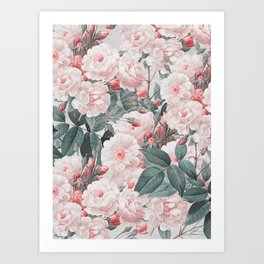 Vintage Flower pattern Art Print