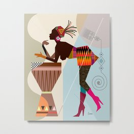 Afrocentric Chic VII Metal Print