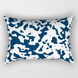Spots - White and Oxford Blue Rectangular Pillow