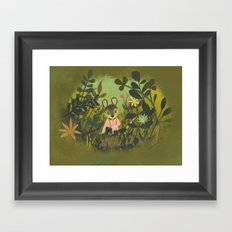 Mouse in the Grass Framed Art Print