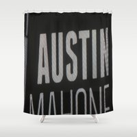 austin Shower Curtains featuring Austin Mahone by Halle