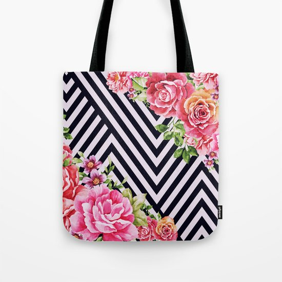 flowers geometric Tote Bag